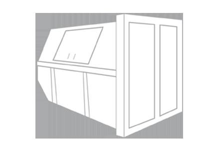 Bouw- en sloopafval container 10m³ gesloten (huisje)