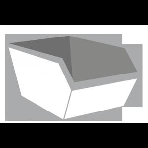 Bedrijfsafval container 6m³