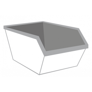 Dakafval container 6m³