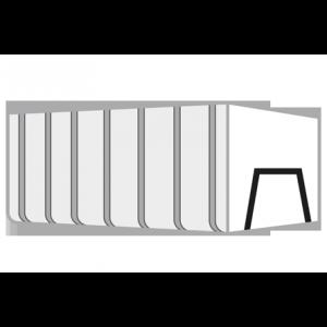 Papier container 35m³