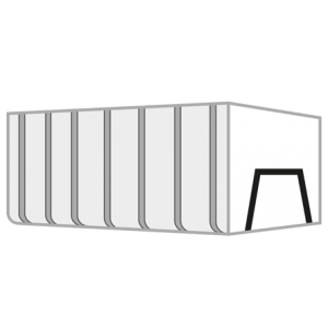 Bedrijfsafval container 35m³