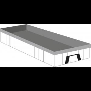 Bedrijfsafval haakarm container 10m³