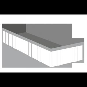 Bedrijfsafval container 17m³