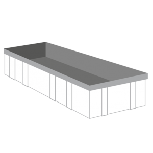Groenafval container 17m³