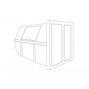 Groenafval container 10m³ gesloten (huisje)