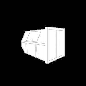 Bouw- en sloopafval container 6m³ gesloten (huisje)